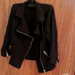 Forever 21 Black Zipper Jacket